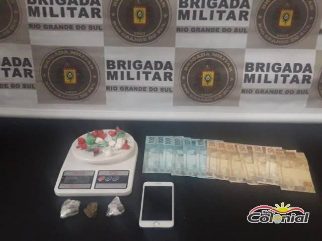 Brigada Militar prende indivíduo por tráfico de drogas em Horizontina